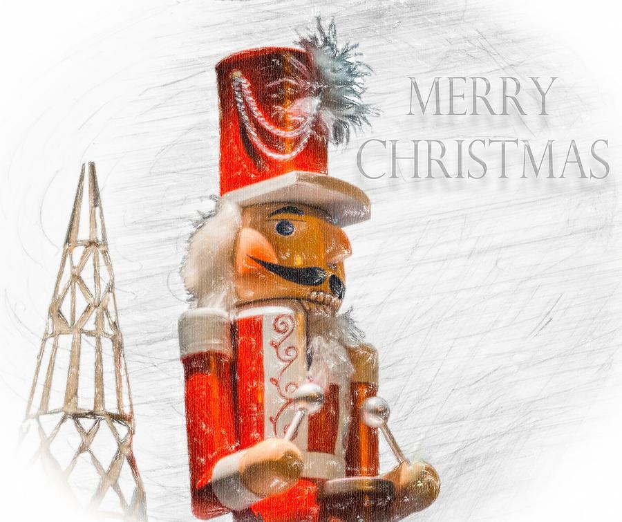 Nutcracker Christmas Card Photograph by Carl Clay