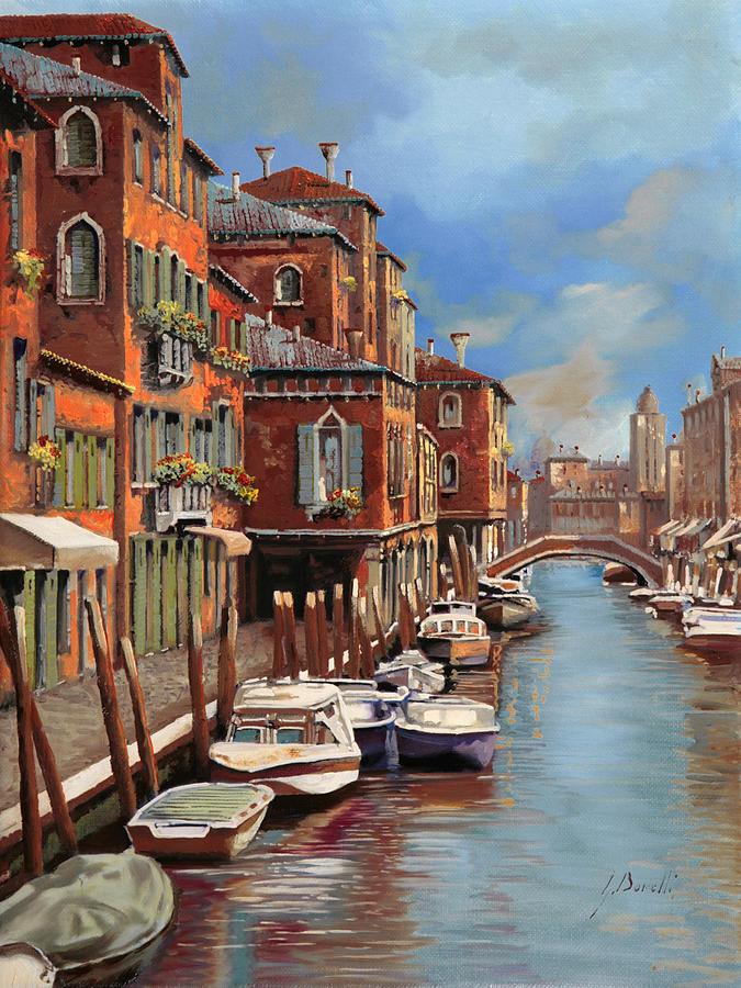 Murano Painting - nuvole a Murano by Guido Borelli