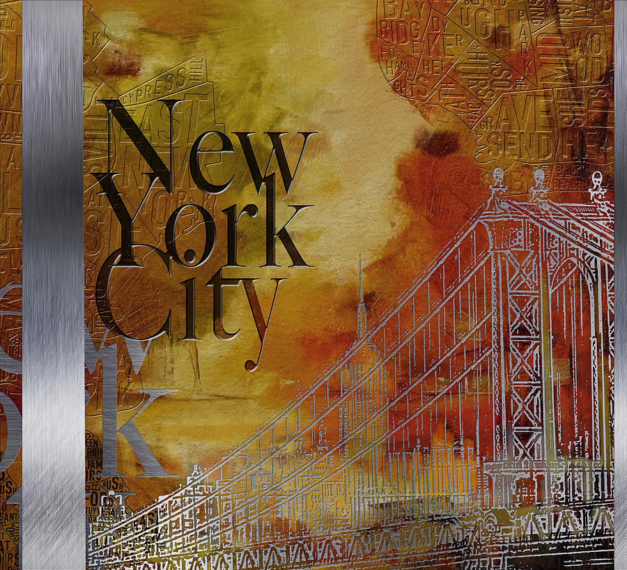 New York City Painting - Ny City Collage - 6 by Corporate Art Task Force
