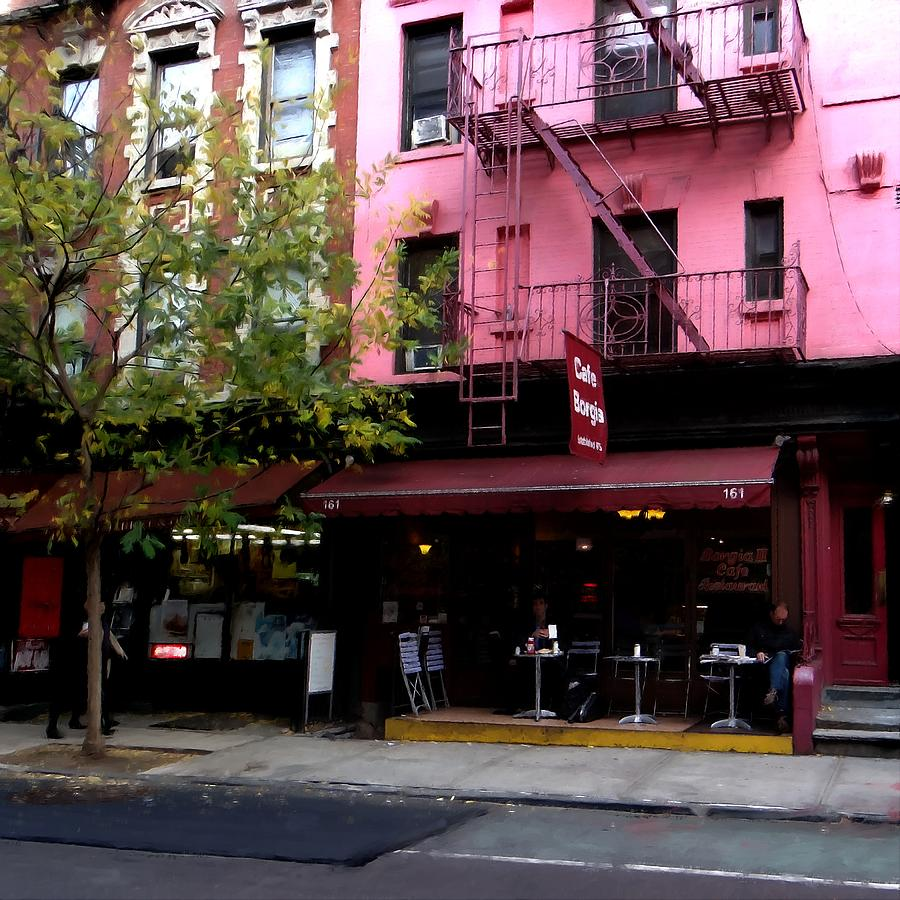 Cafe Borgia Digital Art - Ny Streets - Cafe Borgia II Soho by Gabriel T Toro