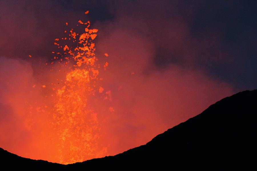 Nyamulagira Volcano Eruption Photograph by Richard Collins