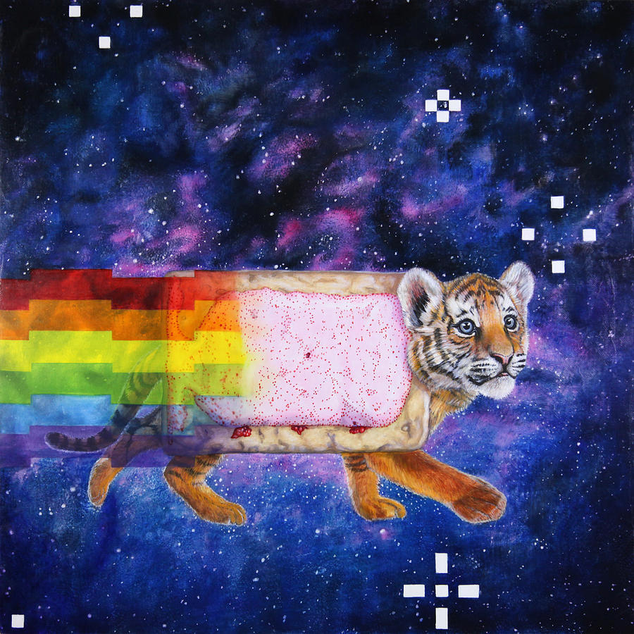 Painting Painting - Nyantiger Nyancat Two Point Oh by David Starr