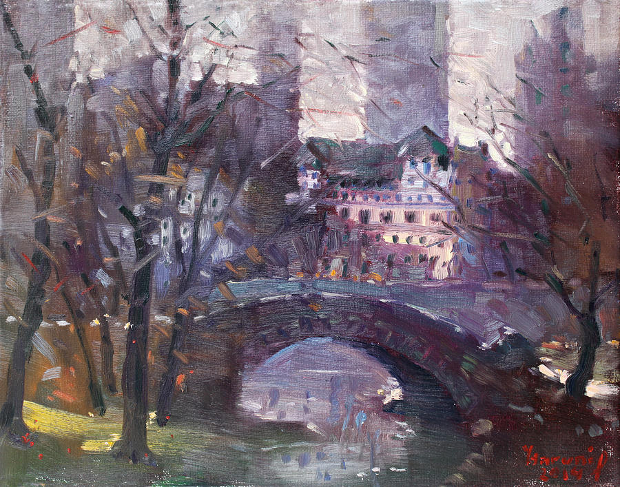 Ny City Painting - NYC Central Park II by Ylli Haruni