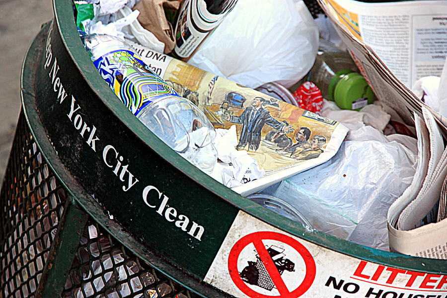 Nyc Garbage Photograph