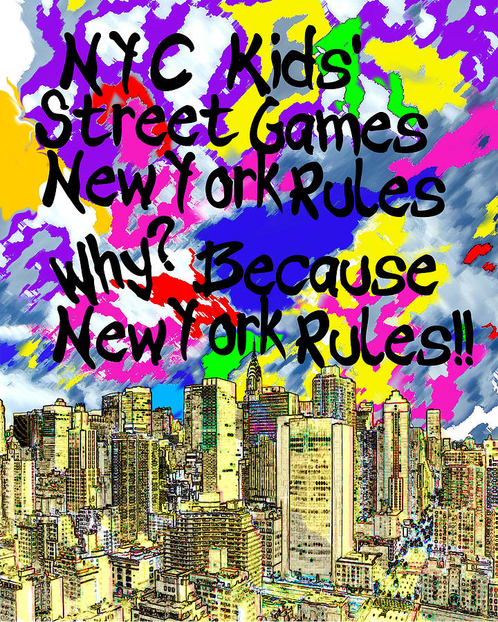 New York Photograph - Nyc Kids Street Games Poster by Bruce Iorio