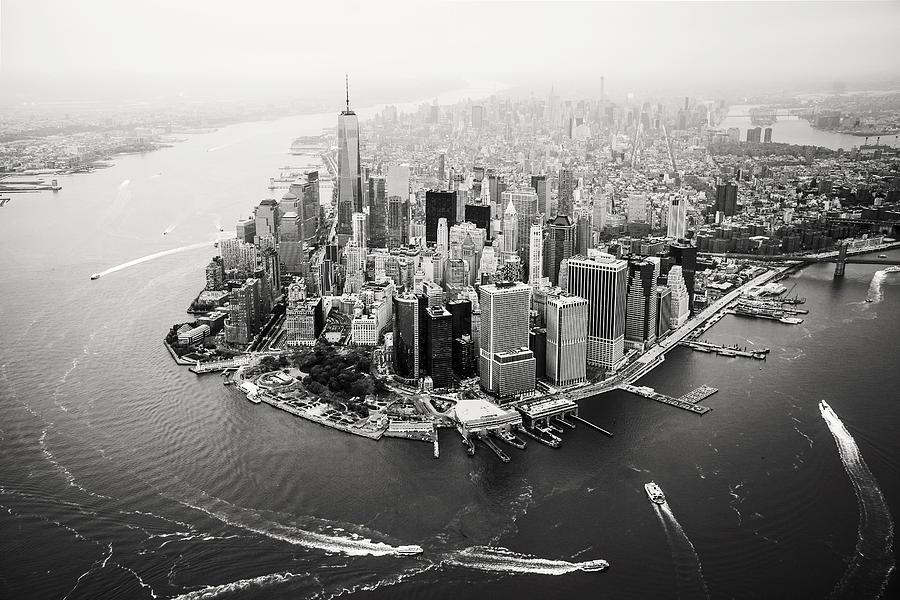 Ny Photograph - NYC Manhattan Aerial by Nina Papiorek