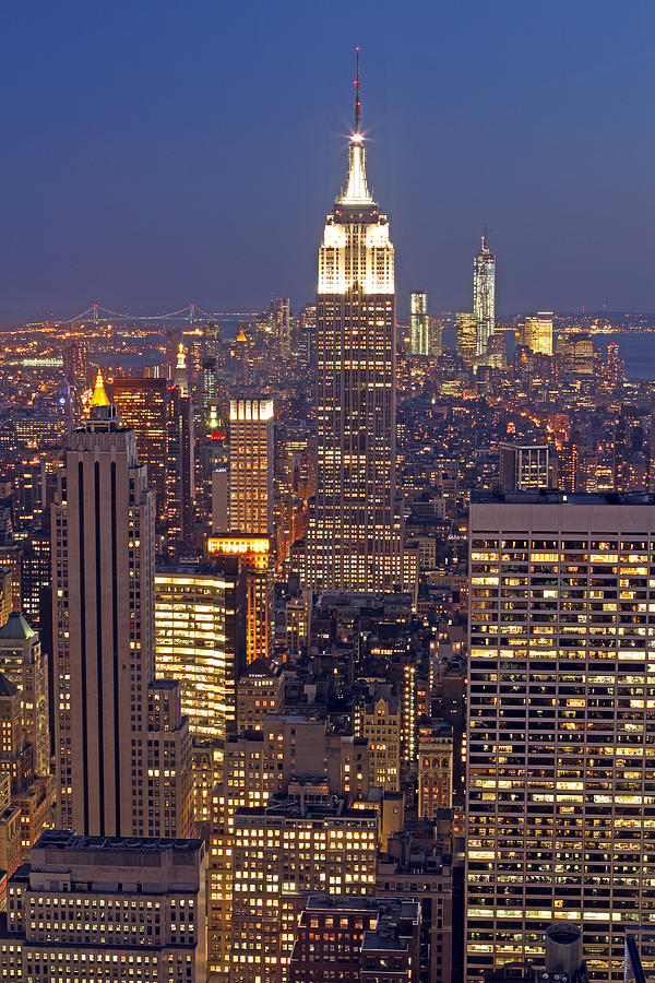 New York City Photograph - Nyc Midtown And Downtown by Juergen Roth