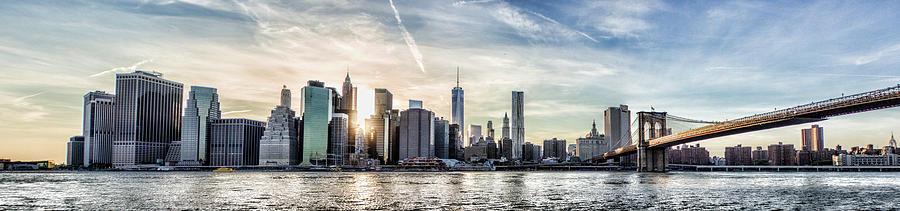 Manhattan Photograph - Nyc Skyline At Sunset by Zev Steinhardt