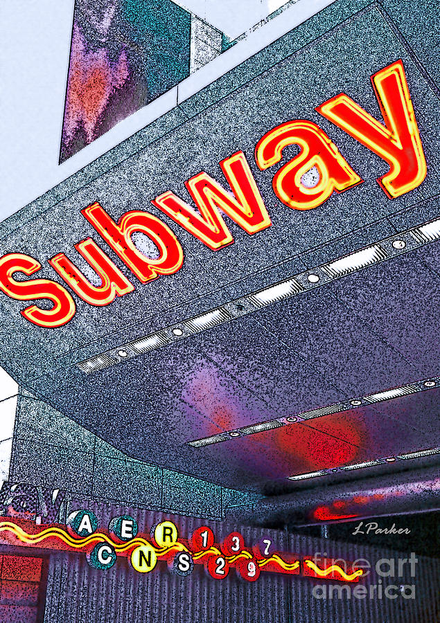 Nyc Photograph - Nyc Subway by Linda  Parker