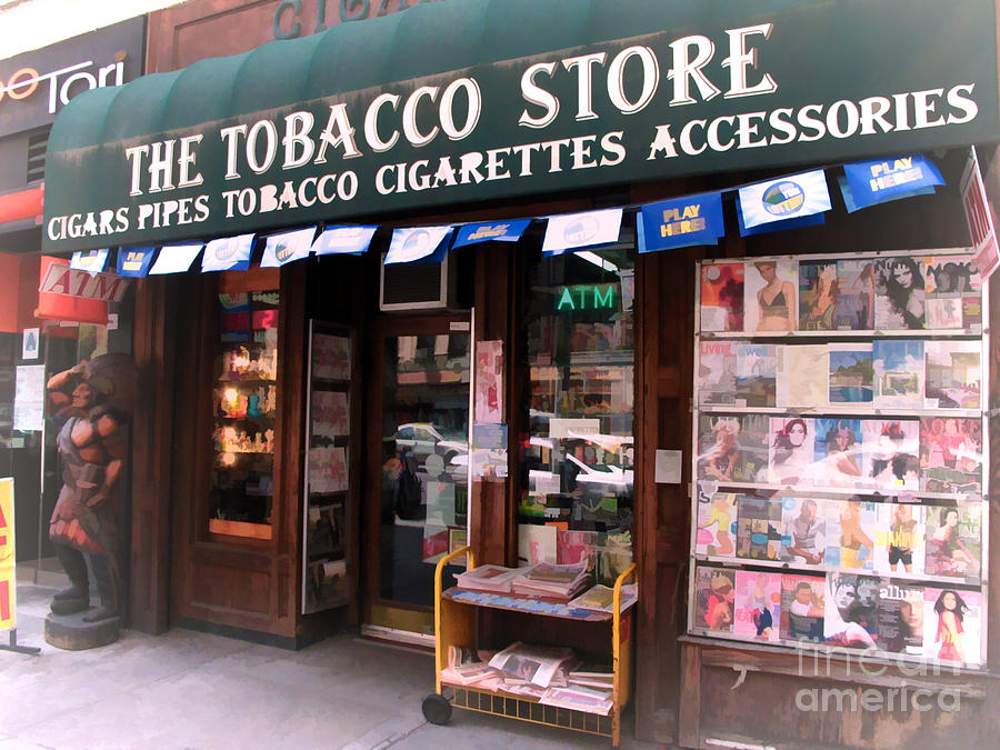 Nyc Tobacco Store With Indian Statue Photograph by Anne Ferguson