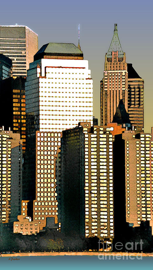 Impressionism Photograph - Nyc - Tower Jungle by Linda  Parker