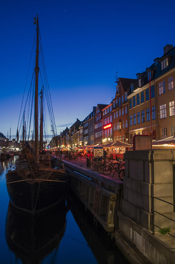 Boats Photograph - Nyhavn By Night Part 3 by Ross G Strachan