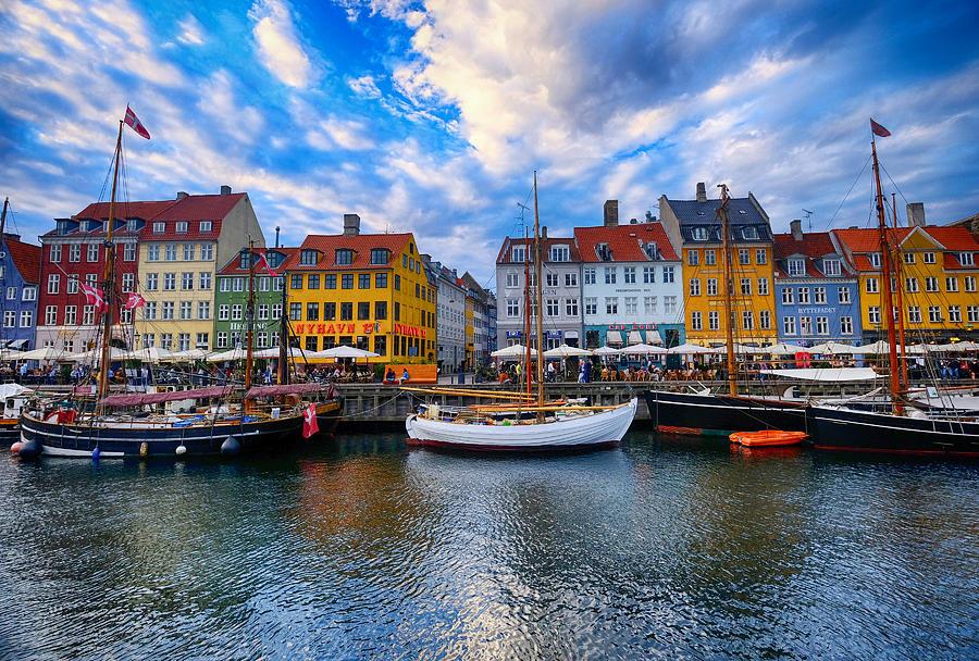 Nyhavn in Copenhagen, Denmark Photograph by L. Toshio Kishiyama