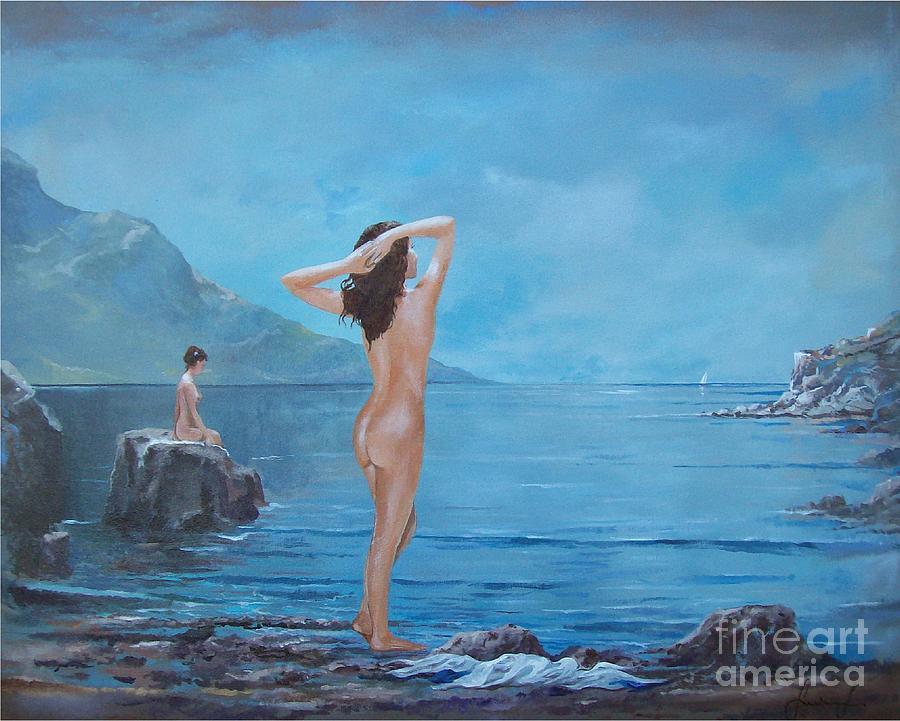 Female Figures Painting - Nymphs by Sinisa Saratlic