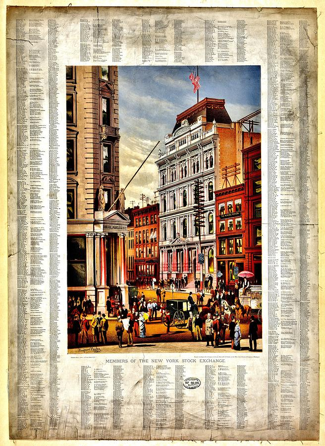 New York Stock Exchange Photograph - Nyse 1882 by Benjamin Yeager