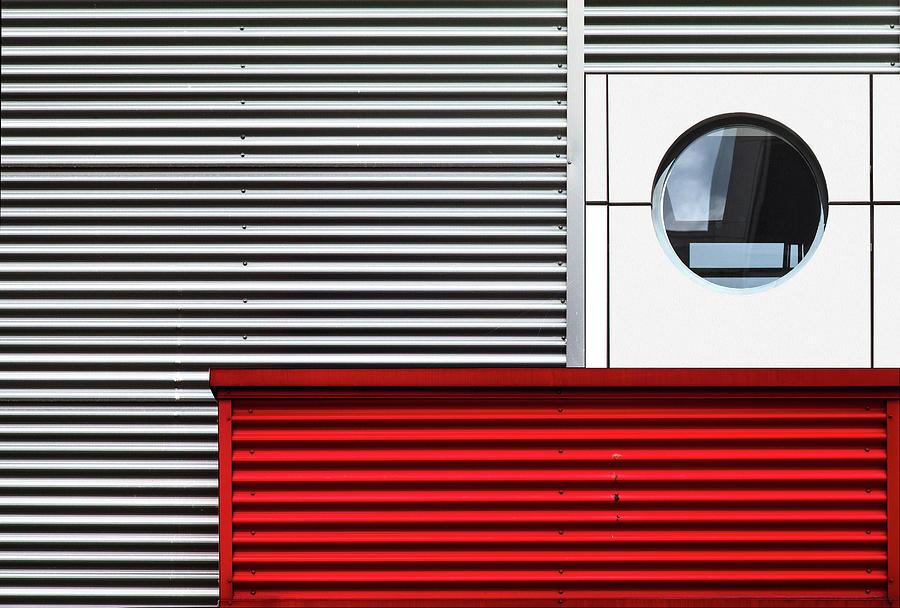 Red Photograph - O & Lines. by Harry Verschelden