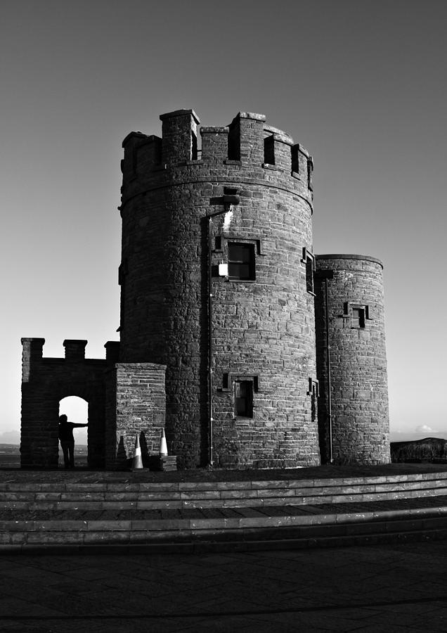 Ireland Photograph -  Briens Tower At The Cliffs Of Moher by Aidan Moran