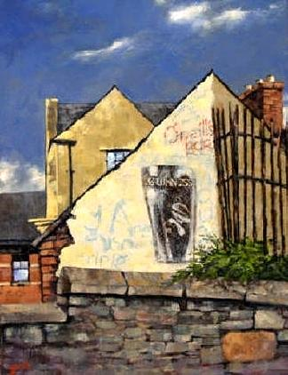 Bars Painting - O Neils Bar Londonderry  by Jim Gola
