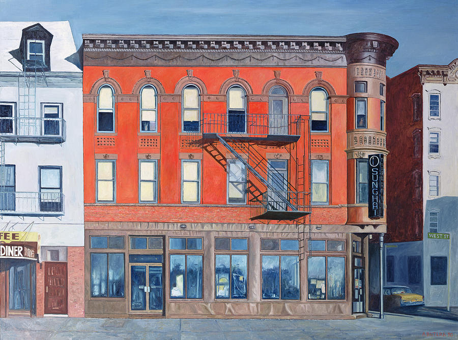 West Village Painting - O Sunghai Restaurant West Village by Anthony Butera