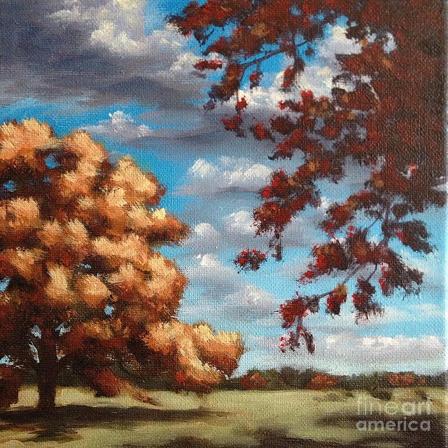 Oak Trees Painting - Oak At Fall by Ric Nagualero