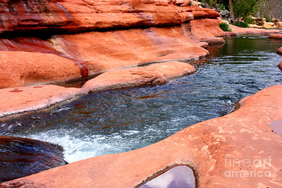 Sedona Photograph - Oak Creek At Slide Rock by Carol Groenen