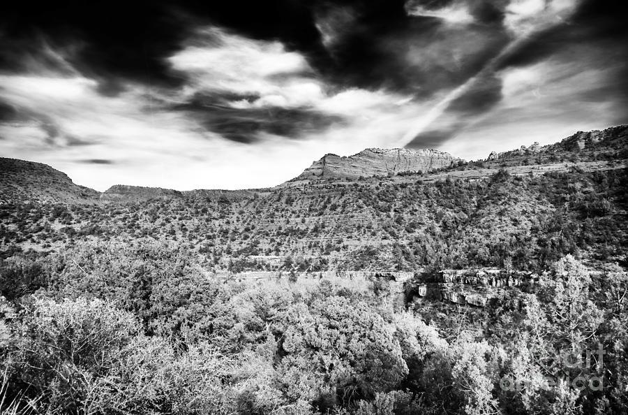 Clouds Photograph - Oak Creek Depth by John Rizzuto