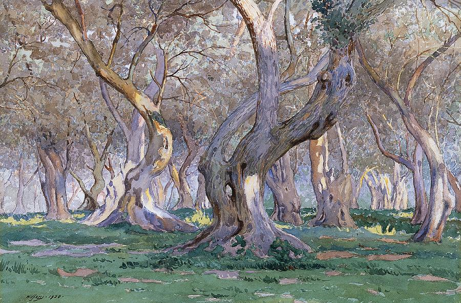 Tree Painting - Oak Grove by Gunnar Widforss