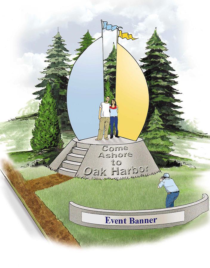 Oak Harbor Presentation_three Drawing by Harold Shull