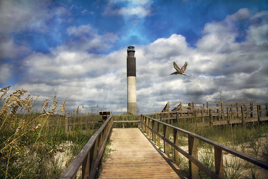 Oak Photograph - Oak Island Lighthouse by Betsy Knapp