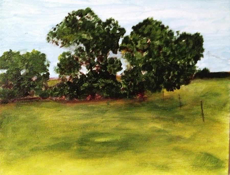 Landscape Painting - Oak Trees by Andrea Friedell