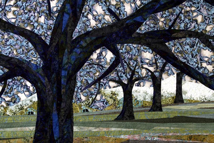 Trees Tapestry - Textile - Oak Veiling by Linda Beach