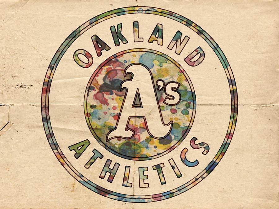 Oakland Athletics Painting - Oakland Athletics Poster Vintage by Florian Rodarte