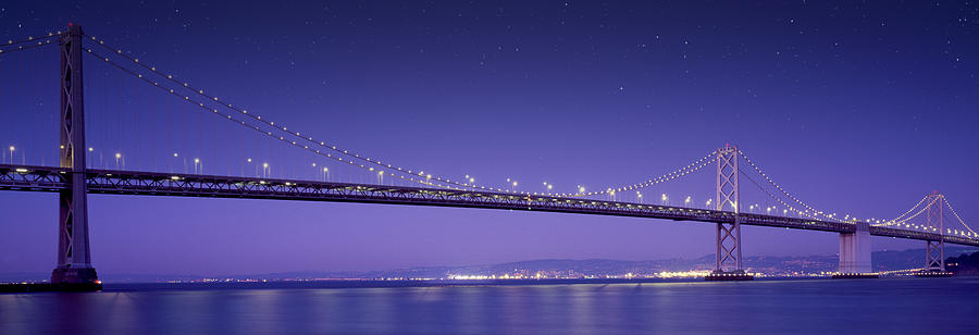 Oakland Bay Bridge Mixed Media - Oakland Bay Bridge by Aged Pixel