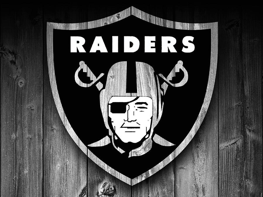 Oakland Raiders Barn Door Digital Art By Dan Sproul