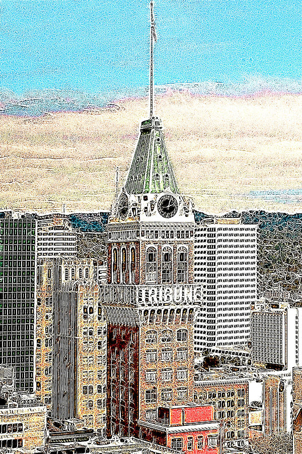 Oakland Photograph - Oakland Tribune Building Oakland California 20130426 by Wingsdomain Art and Photography