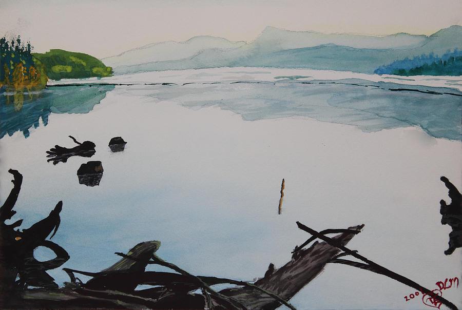 Driftwood Painting - Oakridge Reservoir #1 by Dawna Morton