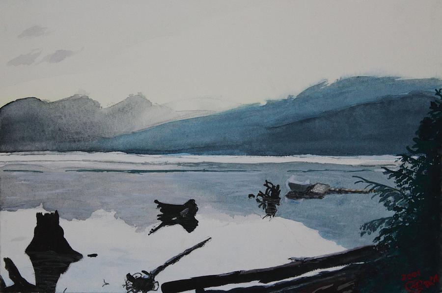Boat Painting - Oakridge Reservoir #3 by Dawna Morton