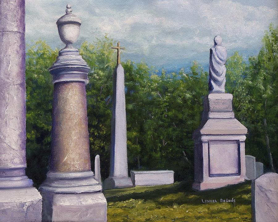 Cemetery Painting - Oakwood Cemetery Jefferson Texas by Lenora  De Lude