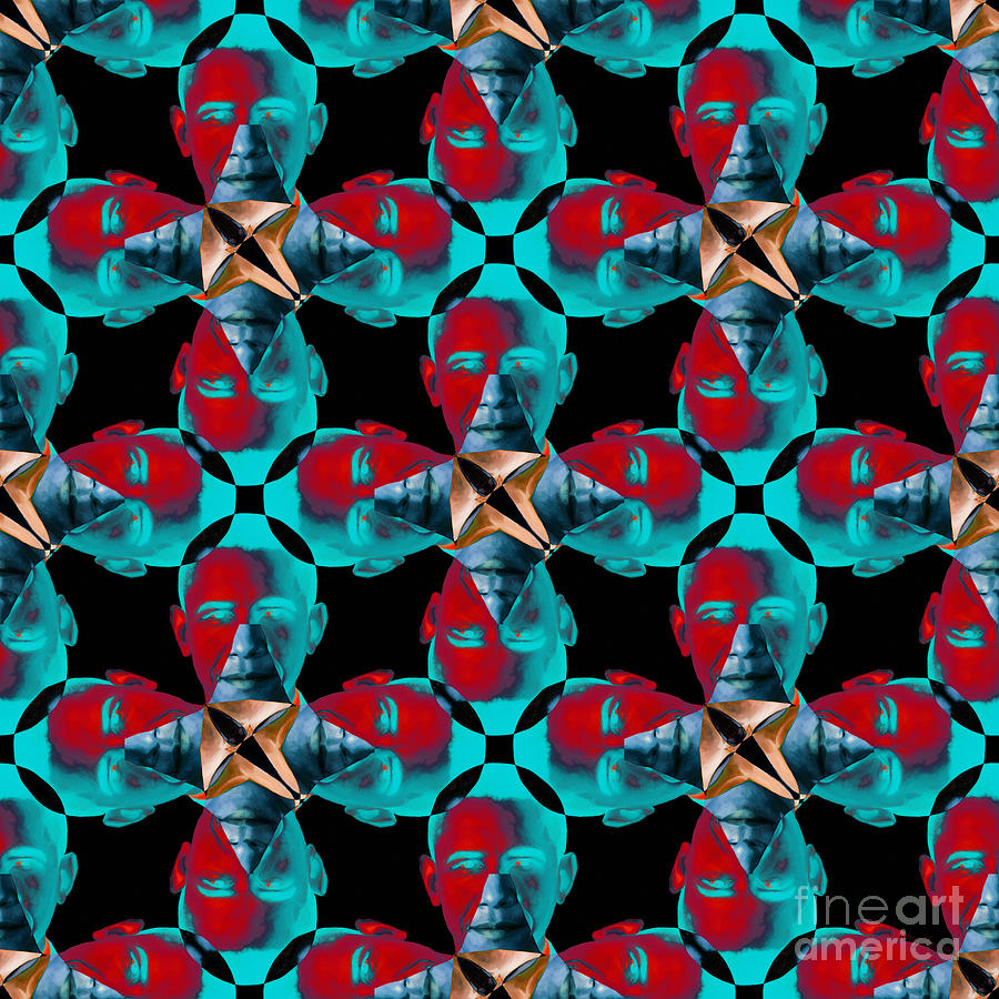 Politic Photograph - Obama Abstract 20130202m180 by Wingsdomain Art and Photography