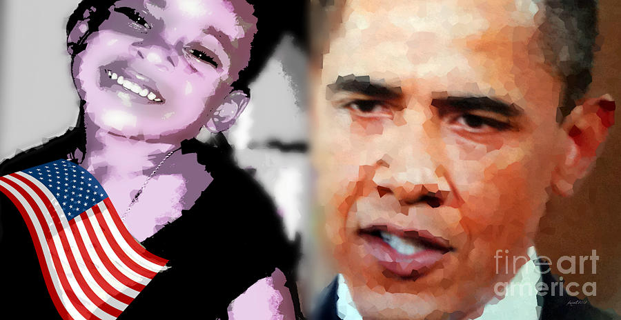 Expression Mixed Media - Obama - If I Had A Son He Would Look Like Me by Fania Simon