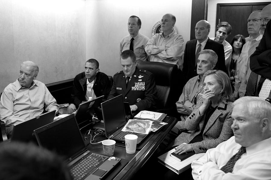 Bin Laden Raid Photograph - Obama In White House Situation Room by War Is Hell Store