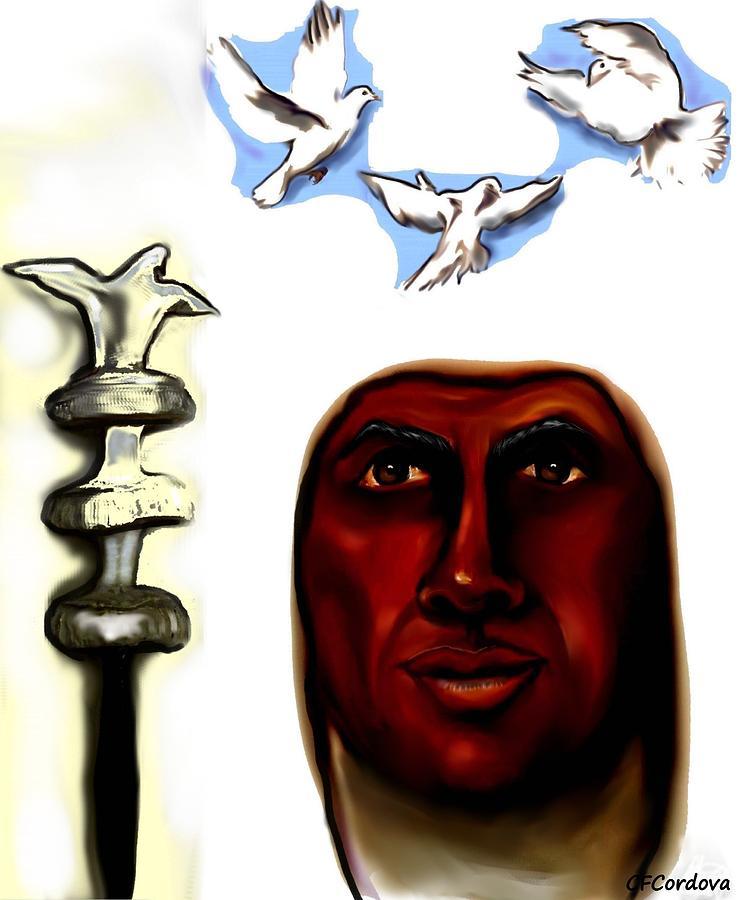 Obatala Painting - Obatala -king Of White Cloth by Carmen Cordova