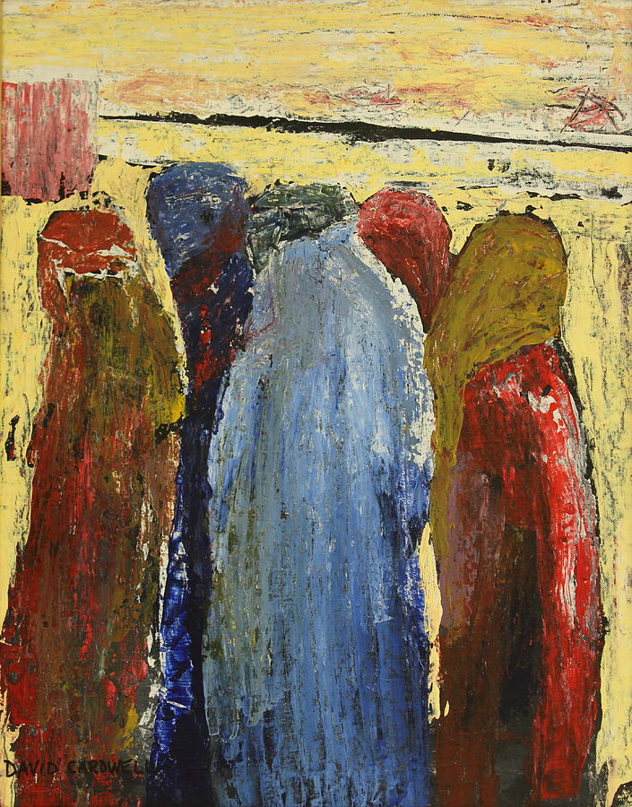 Burka Painting - Obedient by David Cardwell