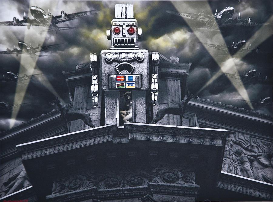 Steampunk Digital Art - Obey Resistance Is Futile by Larry Butterworth