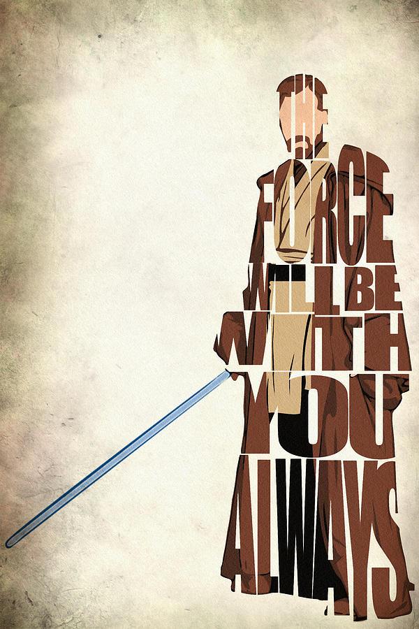 Obi-wan Kenobi Digital Art - Obi-Wan Kenobi - Ewan McGregor by Inspirowl Design