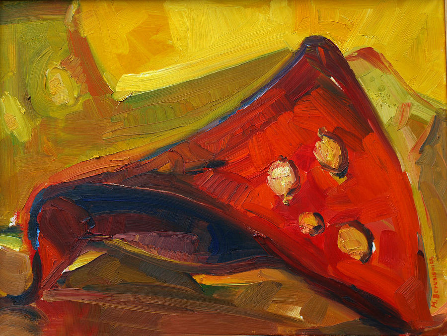 Red Painting - Object In Red by Magdalena Mirowicz