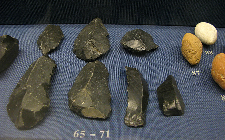 Neolithic Tools Photograph - Obsidian blades by Andonis Katanos
