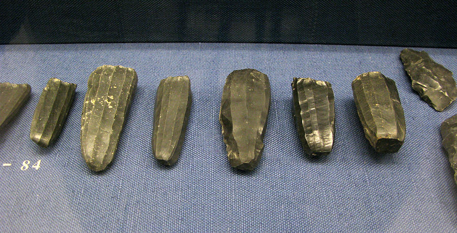 Obsidian Tools Photograph - Obsidian Tools by Andonis Katanos