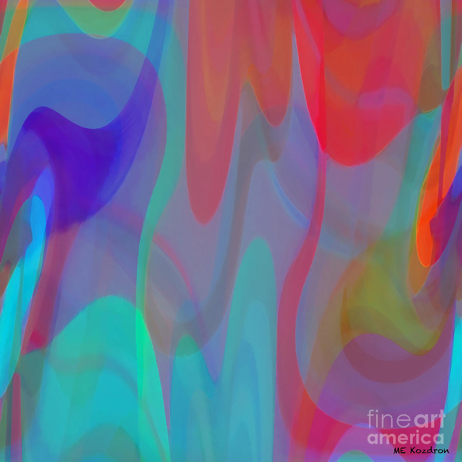 Abstract Digital Art - Obversion by ME Kozdron