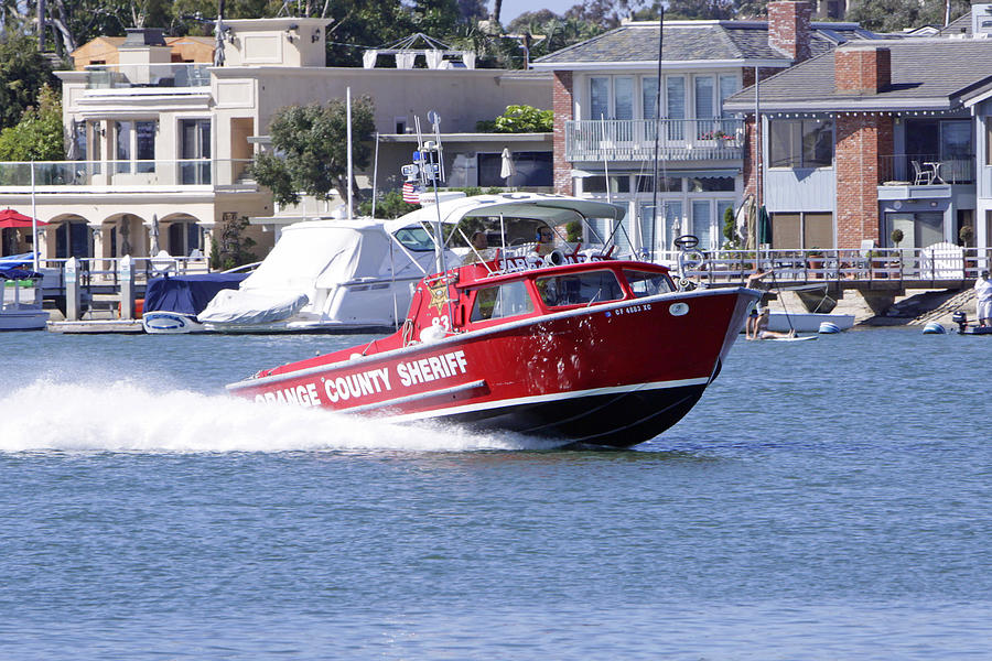 Fire Fighter Photograph - Oc Sheriff Harbor Patrol Fire Fighter by Shoal Hollingsworth
